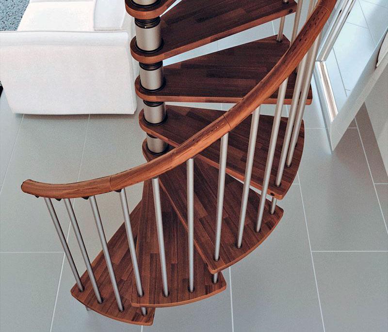 Escalera de caracol gamia wood las am ricas for Escaleras rintal