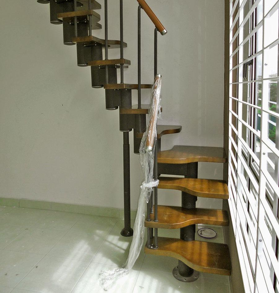 Escalera para espacios reducidos mini las am ricas for Escaleras modernas para espacios pequenos
