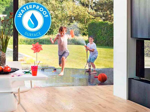 Elugna piso flotante resistente al agua