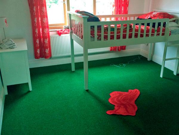 Pasto en un dormitorio infantil